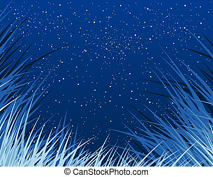 Bluegrass - Background of grass and stars