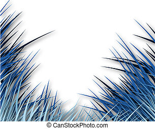 Bluegrass - Illustration of blue grass with copy space
