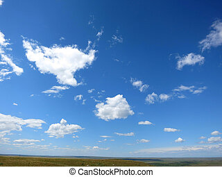 blueish, céu, nublado