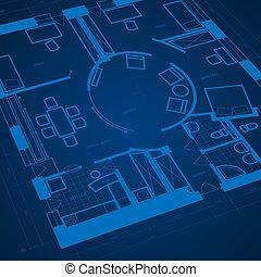 blueprint, abstratos, fundo