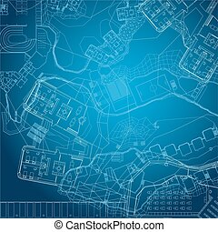 Blueprint. Architectural background.