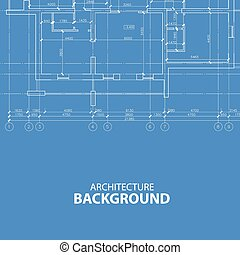 blueprint, arquitetura, fundo