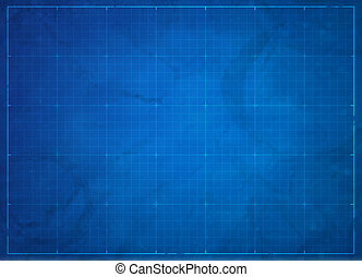 Blueprint background - Blueprint illustration with grids and...