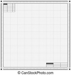 Blueprint background. Vector illustration.