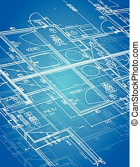 blueprint blueprint illustration design over a blue...