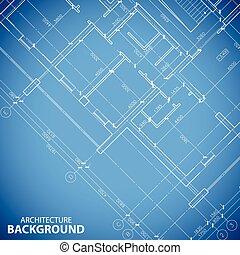 Blueprint building plan background