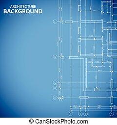 Blueprint building plan