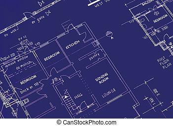 blueprint close up - blueprint of building plans