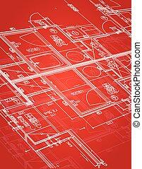 blueprint, desenho, ilustração