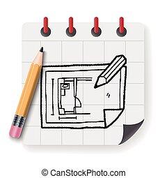 blueprint doodle