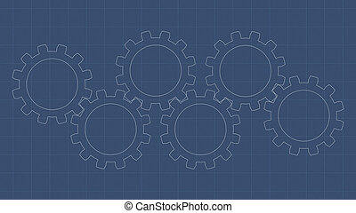 blueprint, engrenagem