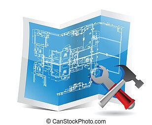 blueprint, ferramentas