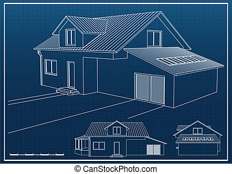 Blueprint - House blueprint vector background
