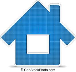 Blueprint house icon