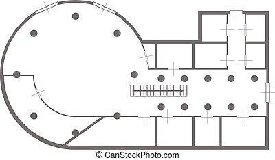 blueprint house round