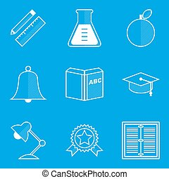 Education books blueprint education word on blueprint with blueprint icon set education malvernweather Image collections