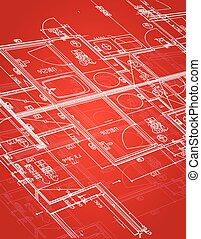 blueprint illustration design