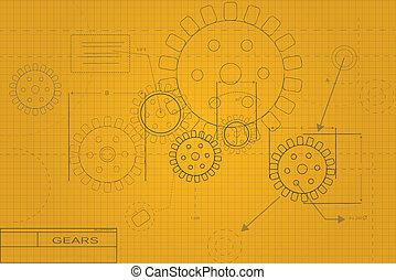 blueprint, ilustração