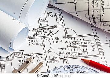 blueprint of a house. construction