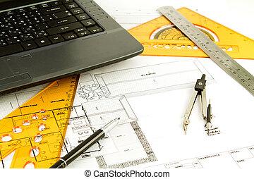 Blueprint of a house