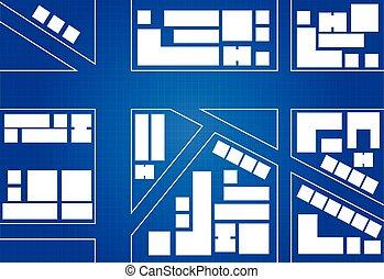 Blueprint Of City Map