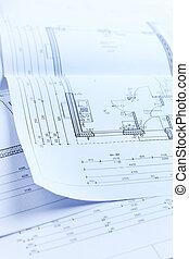 Blueprint of family house