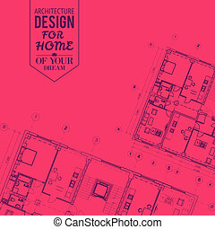 Blueprint of house project.