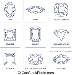 Blueprint outline gems