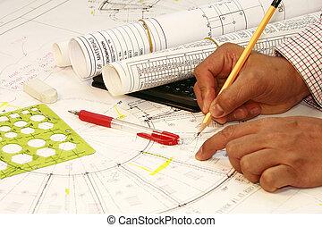 Blueprint  plan at home