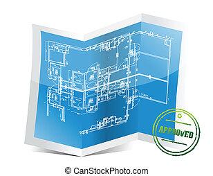 blueprint, projeto, aprovado