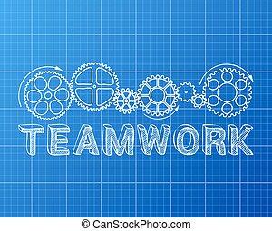 blueprint, trabalho equipe