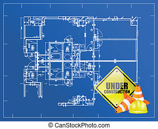 blueprint under construction