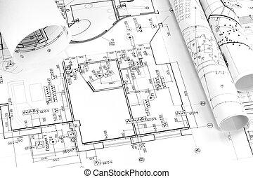 blueprints, grafické pozadí