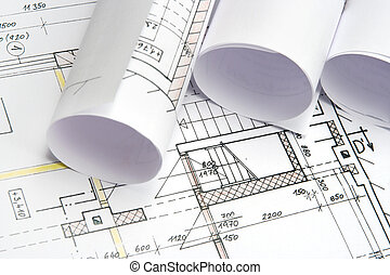 Blueprints of architecture