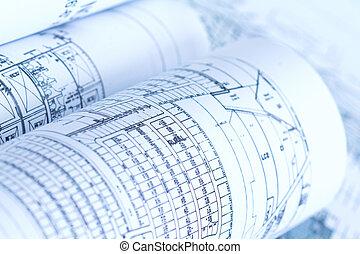 Blueprints - partially visible blueprints