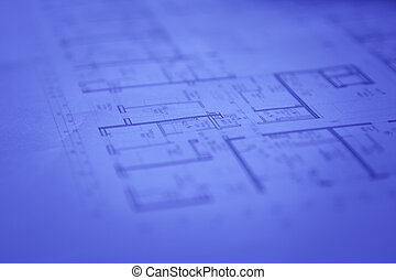 Blueprints - Abstract architectural blueprints background