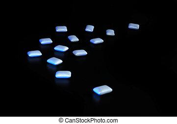 bluer, píldoras