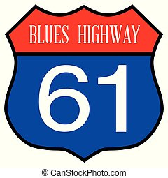 Blues Highway 61 Spoof Sign