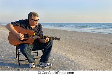 blues, morze