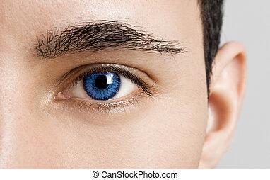 blues, olhos