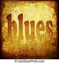 blues word music background