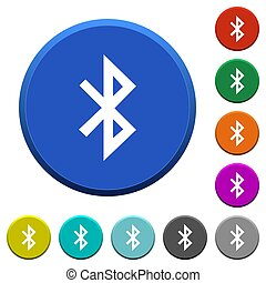 Bluetooth beveled buttons