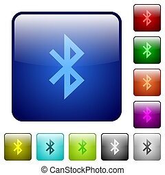 Bluetooth color square buttons
