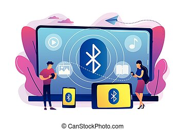 Bluetooth connection concept vector illustration.