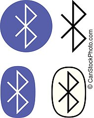 Bluetooth connection icon set