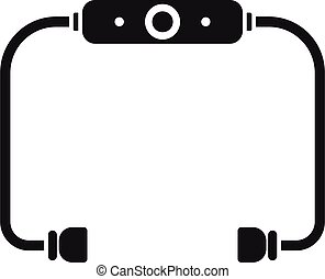 Bluetooth earbuds icon, simple style