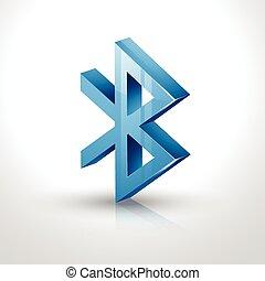bluetooth icon - vector 3d bluetooth icon