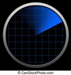 Bluetooth radar - Globe bluetooth Radar. Radar tecnology