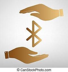 Bluetooth sign Golden Effect.