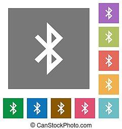 Bluetooth square flat icons